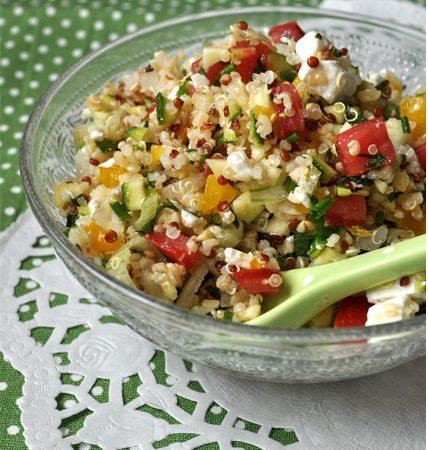 Salade de quinoa comme un taboulé