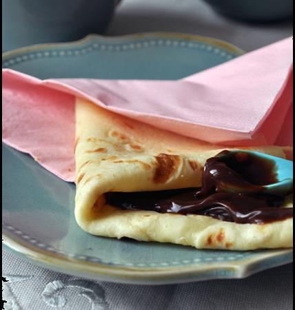 Chandeleur : délicieuses petites crêpes à la fève tonka, et pâte à tatiner chocolat-caramel-citron