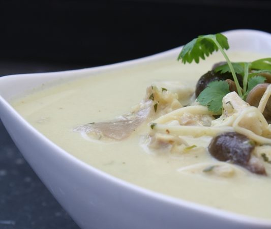 Soupe Thaïlandaise au lait de coco
