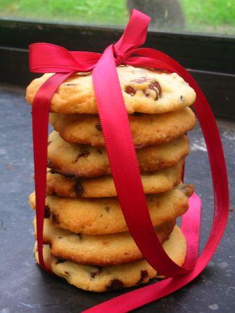 Cookies tout simples aux Noix et aux Pépites de Chocolat Noir